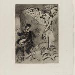 Marc Chagall. Apparizione, 1924/25 Acquaforte e acquatinta, cm. 58,4 x 45,3. Credits: Lascito Paul Barchan © Chagall ® by SIAE 2015