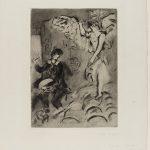 Marc Chagall. Apparizione, 1924/25. Acquaforte e acquatinta, cm. 58,4 x 45,3. Credits: Lascito Paul Barchan © Chagall ® by SIAE 2015