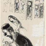Marc Chagall. L'orologiaio, dal libro From My Notebooks Inchiostro di china e guazzo su carta, cm. 15,8 x 12. Credits: Dono di Ida Chagall, Parigi © Chagall ® by SIAE 2015