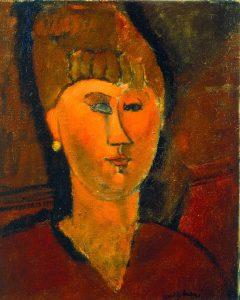 Amedeo Modigliani. La ragazza rossa (Testa di donna dai capelli rossi), 1915