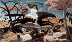 Henri Rousseau. La Guerra - La cavalcata della Discordia, 1894 ca. Olio su tela, cm. 1145 x 195. Parigi, Musée d'Orsay, © RMN-Grand Palais (Musée d'Orsay)Tony Querrec