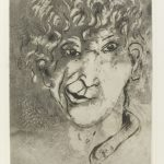 Marc Chagall. Autoritratto con la Smorfia, 1924-1925. Acquaforte e acquatinta su pergamena, cm. 56 x 37,4. Dono dell'artista, 1946. © 2015 Artists Rights Society (ARS), New York / ADAGP, Paris