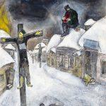 Marc Chagall. Il Crocifisso, 1944. Matita, tempera e acquerello su carta