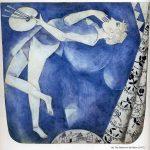 Marc Chagall. Il pittore della luna, 1917. Guazzo, cm. 32 x 30. Collezione privata