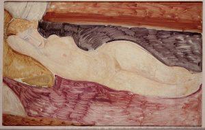 Amedeo Modigliani. Nudo sdraiato 1918-1919. Olio su tela. Acquisto alla Marlborough Gallery