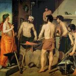 Velásquez. La fucina di Vulcano, 1630. Olio su tela, cm. 223×290. Museo del Prado, Madrid