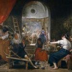 Velázquez. La Favola di Aracne o Le filatrici,1657-1658. Olio su tela. Museo del Prado, Madrid