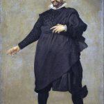 Velázquez. Pablo de Valladolid (Il comico), 1632 - 1633. Olio su tela, cm. 209×123. Museo del Prado, Madrid