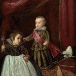 Velásquez. Il principe Baltasar Carlos con un nano, 1630. Olio su tela, cm. 136 x 104. Museum of Fine Arts, Boston