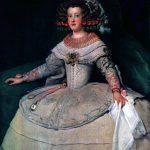 Velásquez. Ritratto dell'Infanta Maria Teresa, futura regina Maria Teresa di Francia, 1653, cm. 127 x 99. Olio su tela.Museo di Storia dell'arte, Vienna