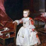 Velásquez. Ritratto del Principe Filippo Prospero figlio di Filippo IV, 1659. Olio su tela, cm. 128,5 x 99,5. Kunsthistorisches Museum, Vienna