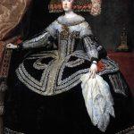 Velásquez. Ritratto di Maria Anna d'Austria, 1652-1653. Olio su tela, cm. 231x131. Museo del Prado, Madrid
