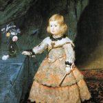 Velázquez. L'infante Margherita Teresa di Spagna in abito rosso, 1653. Olio su tela, cm. 100 x 128.5. Museo di Storia dell'Arte, Vienna