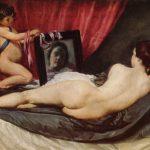 VVelásquez. Venere allo specchio (Venere Rokeby), 1648. Olio su tela, cm. 122,5 x 175. National Gallery, Londra
