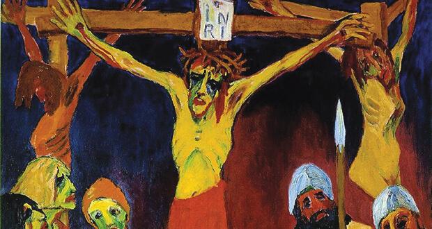 L'Espressionismo tedesco. Emil Nolde. Crocifissione, 1912. Olio su tela, (dettaglio)