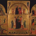 Siena. Madonna sul trono con bambino