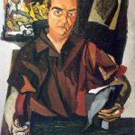Guttuso. Ritratto di Alberto Della Ragione, 1943. Olio su tela, cm. 80 x 70