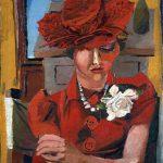 Guttuso. Ritratto di Mimise con il cappello rosso, 1938