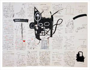 "Jean Michel Basquiat. Pagina ""Taccuino senza titolo, ca. 1987.Pastello a cera su carta, cm. 24.5 x 19.4. Raccolta di Larry Warsh. Copyright © Estate di Jean Michel Basquiat, tutti i diritti riservati. Concesso in licenza da Artestar, New York. Foto: Sarah DeSantis, Brooklyn Museum"