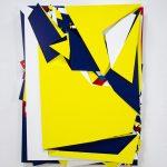 Boris Tellegen. Issues. Acrilico su 8 strati di legno di betulla, cm. 120 x 105, 2014