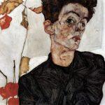 Egon Schiele. Autoritratto con alchechengi,1912
