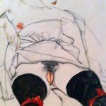 Egon Schiele. Donna con calze nere, 1913. Guazzo, acquarello e matita, cm. 48.3 x 31.8. Collezione privata, per gentile concessione di Richard Nagy