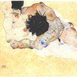 Egon Schiele. Abbracciando, 1912