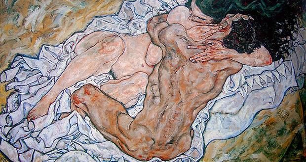 Egon Schiele. L'abbraccio (dettaglio)