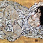 Egon Schiele. Donna adagiata,1917