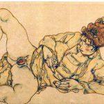 Egon Schiele. Nudo femminile adagiato, 1916