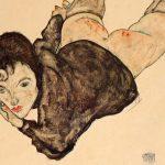Egon Schiele. Donna appoggiata, 1916