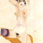Egon Schiele. Ragazza nuda seduta