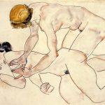EgonSchiele-. Due donne nude, una adagiata