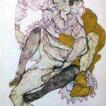 Egon Schiele. Coppia seduta