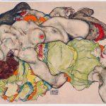 Egon Schiele. Donne amanti, 1915