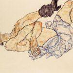 Egon Schiele. Nudo femminile disteso,1917