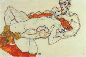 Egon Schiele. Amanti, 1913