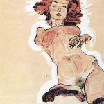 Egon Schiele. Nudo femminile,1910
