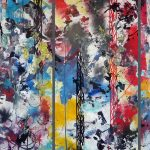 Futura. The constructivist. Vernice spray su tela, cm. 400 x 300. 2015