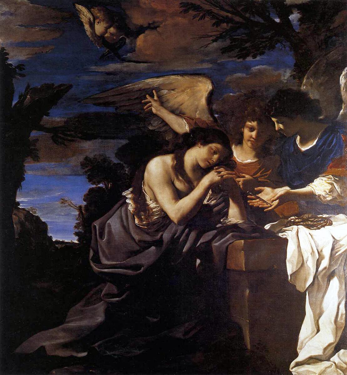 Giovanni francesco barbieri detto guercino santa maria for Quadri con angeli
