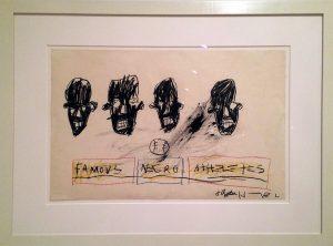 Jean-Michel Basquiat. Famosi atleti negri, 1981. Brooklyn Museum