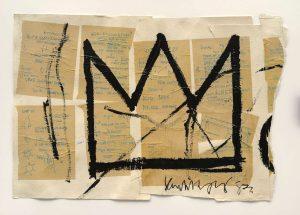 Jean Michel Basquiat. Senza titolo (Corona), 1982. Acrilico, inchiostro e carta collage su carta, cm. 50,8 × 73,66. Collezione privata, per gentile concessione di Lio Malca. Copyright © Estate di Jean Michel Basquiat, tutti i diritti riservati. Concesso in licenza da Artestar, New York. Foto: Mark Woods