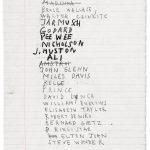 "Jean Michel Basquiat. Pagina di ""Taccuini senza titolo"", 1987. Brooklyn Museum"