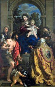 Pietro da Cortona. Madonna con Bambino e i Santi Giacomo, Giovanni Battista, Stefano papa e Francesco, 1626. MAEC - Museo dell'Accademia Etrusca e della Città di Cortona