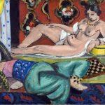 Henri Matisse. Due odalische di cui una nuda, sfondo ornamentale a scacchi, 1928. Olio su tela, cm. 54 x 65. © Succession H. Matisse, c / o Pictoright Amsterdam, 2014