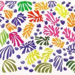 Henri Matisse. Il Pappagallo e la Sirena, 1952 - 1953. Guazzo, collage su carta su tela , cm. 337 X 768,5. Collezione Stedelijk Museum, Amsterdam