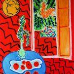 Henri Matisse. Interno rosso. Still life su Tavola rossa, 1947. Olio su tela, cm. 116 x 89. © Succession H. Matisse, c / o Pictoright Amsterdam 2014