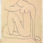 Henri Matisse. Studio per Nudo Blu, c. 1952. Matita su carta, cm. 27 x 21. Collezione privata. © Succession H. Matisse, c/o Pictoright Amsterdam, 2014