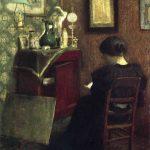 Donna che legge, 1894. Olio su tavola, cm. 61,5 X 48. Centre Georges Pompidou, Parigi