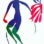 Henri Matisse. Nudo Blu con calze verdi, 1952. Guazzo su carta, tagliato e incollato, cm. 258 x 167, © c / o Pictoright Amsterdam, 2014